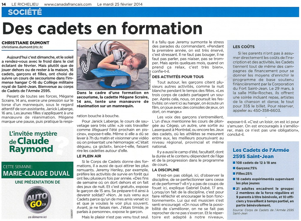 Article_Cadets_Fev 2014
